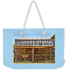 Livery Stable Weekender Tote Bag by Ray Shrewsberry