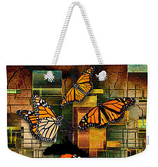 Weekender Tote Bag featuring the mixed media Living A Life With No Boundaries by Marvin Blaine