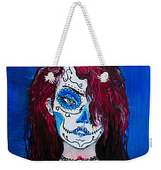 Weekender Tote Bag featuring the painting Living Dead Girl by Reed Novotny