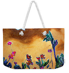 Weekender Tote Bag featuring the painting Living Earth by Winsome Gunning