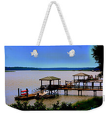 Weekender Tote Bag featuring the photograph Living In The Lowcountry by Lisa Wooten