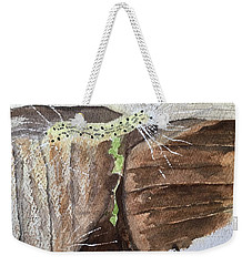 Living In The Moment -- A Watercolor Sketch  Weekender Tote Bag