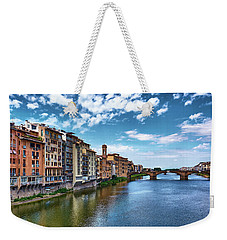 Living Next To The Arno River Weekender Tote Bag