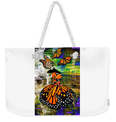 Weekender Tote Bag featuring the mixed media Living One's Destiny by Marvin Blaine