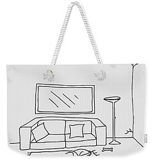 Living Room 001 Weekender Tote Bag