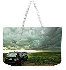 Living Saskatchewan Sky Weekender Tote Bag by Ryan Crouse