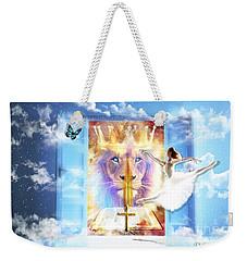 Living Word Of God Weekender Tote Bag by Dolores Develde