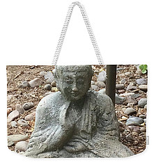 Weekender Tote Bag featuring the painting Lizard Zen by Kim Nelson
