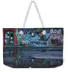Weekender Tote Bag featuring the photograph Ljubljana Graffiti Reflections #3 - Slovenia by Stuart Litoff