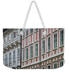 Weekender Tote Bag featuring the photograph Ljubljana Windows #3 - Slovenia by Stuart Litoff