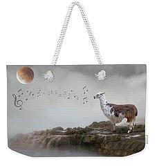 Llama Singing To The Moon Weekender Tote Bag