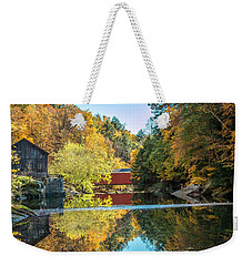 Mcconnell's Mill And Covered Bridge Weekender Tote Bag