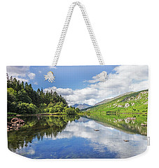 Llyn Mymbyr And Snowdon Weekender Tote Bag by Ian Mitchell