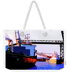 Loading The Iron Ore On The Great Lakes Freighters Weekender Tote Bag