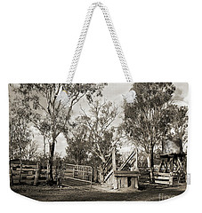 Weekender Tote Bag featuring the photograph Loading Ramp by Linda Lees