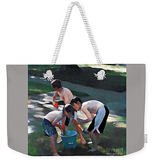 Weekender Tote Bag featuring the photograph Loading Up by Jodie Marie Anne Richardson Traugott          aka jm-ART