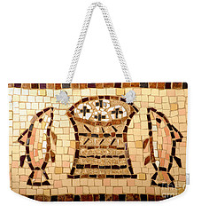 Loaves And Fishes Mosaic Weekender Tote Bag by Lou Ann Bagnall