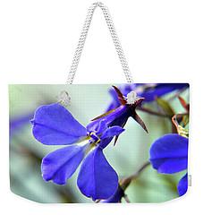 Lobelia Erinus Weekender Tote Bag by Terence Davis