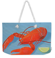 Lobster And Lemon Weekender Tote Bag