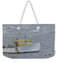 Lobster Boat In Kettle Cove Weekender Tote Bag