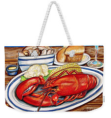 Lobster Dinner Weekender Tote Bag by Patricia L Davidson