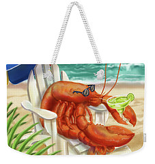Lobster Drinking A Margarita Weekender Tote Bag
