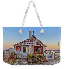 Lobster Landing Sunset Weekender Tote Bag by Edward Fielding