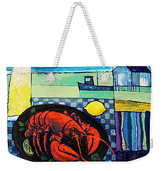 Lobster Weekender Tote Bag by Mikhail Zarovny