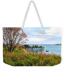 Weekender Tote Bag featuring the photograph Lobster Traps by Betty Pauwels
