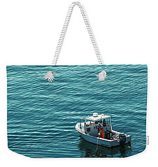 Lobsterman In Maine Weekender Tote Bag by Diane Diederich