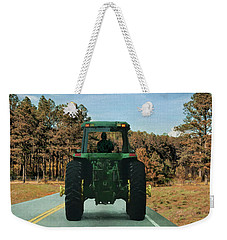 Weekender Tote Bag featuring the painting Local Traffic 907 - Painting by Ericamaxine Price