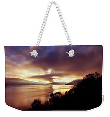Loch Ness Winter Sunset Weekender Tote Bag