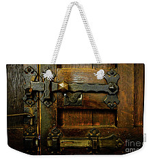 Locked And Bolted Weekender Tote Bag by Lexa Harpell