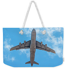Weekender Tote Bag featuring the photograph Lockheed Martin C5 Galaxy Overhead by SR Green