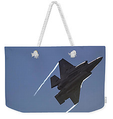 Weekender Tote Bag featuring the photograph Lockheed Martin F-35b Lightning II by Shirley Mitchell