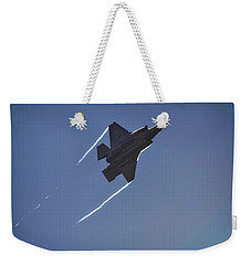 Weekender Tote Bag featuring the photograph Lockheed Martin F-35b  by Shirley Mitchell