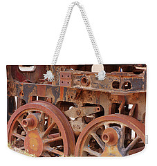 Weekender Tote Bag featuring the photograph Locomotive In The Desert by Aidan Moran
