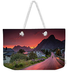 Lofoten Nightlife  Weekender Tote Bag by Alex Conu