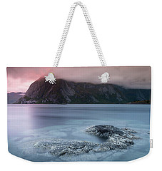 Lofoten Sunset Weekender Tote Bag by Alex Conu