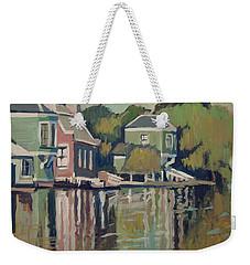 Lofts Along The River Zaan In Zaandam Weekender Tote Bag by Nop Briex