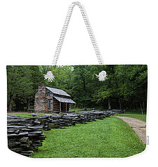 Log Cabin Weekender Tote Bag by David Cote