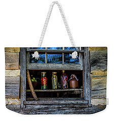 Weekender Tote Bag featuring the photograph Log Cabin Window by Paul Freidlund