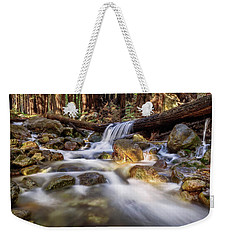 Log Falls On Limekiln Creek Weekender Tote Bag