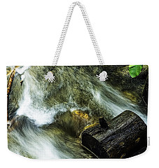 Weekender Tote Bag featuring the photograph Log Gone by Nancy Marie Ricketts