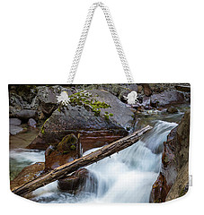 Log In The Rapids Weekender Tote Bag