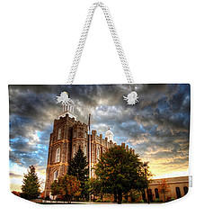 Logan Temple Cloud Backdrop Weekender Tote Bag