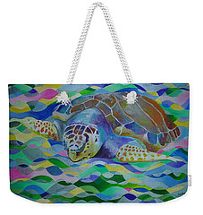 Loggerhead Turtle Weekender Tote Bag by Tracey Harrington-Simpson