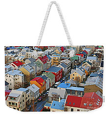 Lokastigur Street In Reykjavik From Hallgrimskirkja 7227 Weekender Tote Bag