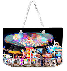 Weekender Tote Bag featuring the photograph Lolipop Wheel- by JD Mims
