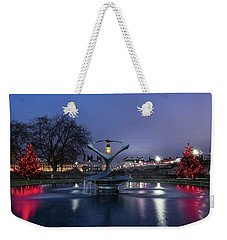 London At Christmas Weekender Tote Bag
